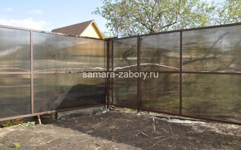 забор из поликарбоната в Самаре