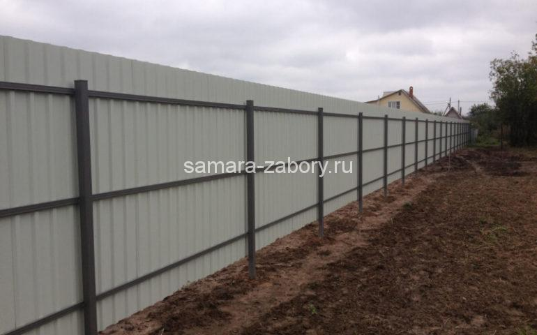 металлический забор из профлиста