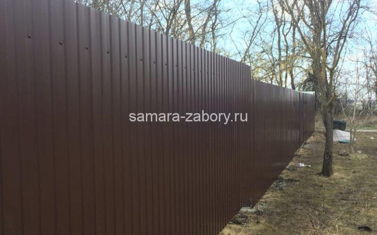 забор из профлиста в Самаре